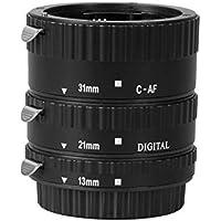 Meike - Tubo de extensión macro de metal con enfoque automático para cámaras fotográficas Canon