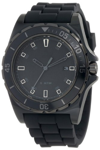 Adidas Men's Stockholm ADH2669 Black Rubber Quartz Watch with Black Dial