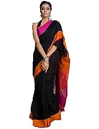 Roxyma Women's Handwoven Linen Saree With Running Blouse Piece