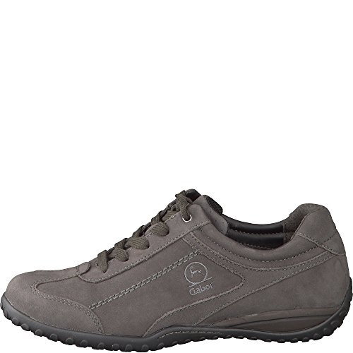 Gabor Damenschuhe 56.398.30 Damen Schnürer, Sneaker, Halbschuhe, Schnürhalbschuhe Grau