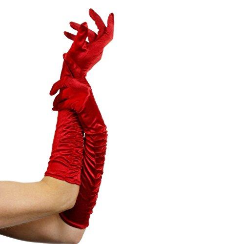 Smiffy's 26345 Verführerin-Handschuhe, Einheitsgröße, rot (Rote Kostüme Handschuhe)