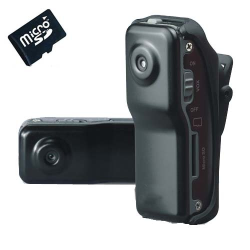 SPY Mini Vehicle Car Recorder Camcorder DV Sport Meeting Record Video Camera & Pocket Cam DVR MD80 + 2GB Micro SD TF Card
