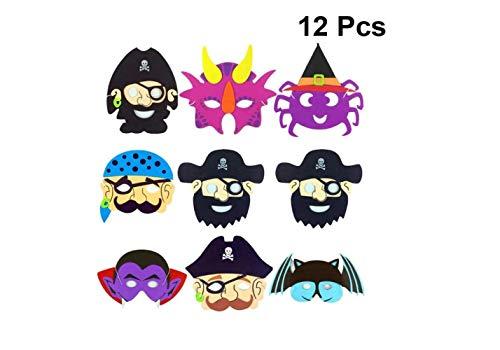 Mas Querade Halloween Cosplay Masken Maskerade Ghost Pirate Taro Form Leistung Eva Gesichtsmaske Kostüm Party Dress Up Zubehör 12 Stücke (Zufälliges - Pirate Queen Für Erwachsene Kostüm