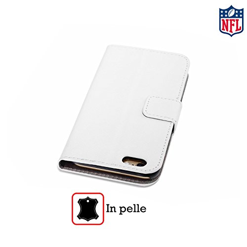 Offizielle NFL Camou Oakland Raiders Logo Brieftasche Handyhülle aus Leder für Apple iPhone 6 / 6s Einfarbig