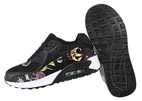 Damen Freizeitschuhe Schuhe Runner Sportschuhe Low-top Sneakers Schnürer Schwarz Weiß 36 37 38 39 40 41 Schwarz