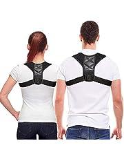 ahere Körperhaltung-Korrektor für Männer und Frauen-Effektiv komfortabel einstellbare Körperhaltung Korrekter Körper für die Unterstützung der Körperhaltung, Kyphose-Klammer, Rücken und Schulter015