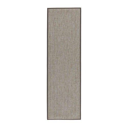 Alfombra pasillera de polipropileno gris clásica para decoración de 60 x 200 cm France - Lola Home