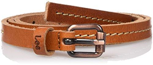 lee-damen-gurtel-thin-stitched-belt-braun-dark-cognac-80-90-cm