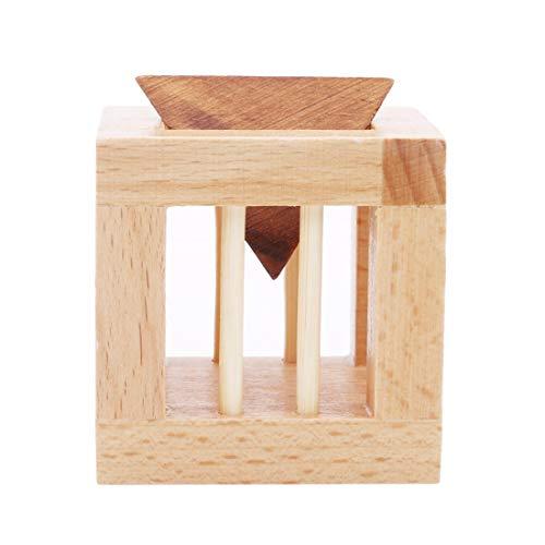 Yingwei VWH Classique Casse-tête Jouet Intellectuel Triangle en Bois Cage Lock Puzzle Jouet Logique Pensant Jouets Éducatifs