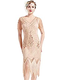 1c858b4f986b2a ArtiDeco 1920s Kleid Damen Flapper Kleid mit Kurzem Ärmel Gatsby Motto  Party Damen Kostüm Kleid