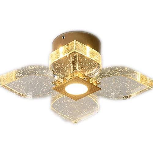 LQRYJDZ Kristalldeckenleuchte, Erröten-Einfassung Deckenleuchte, 36w LED-Patch DREI Farbtemperatur, Modern Minimalist Art LED-Kristalldeckenleuchte Hotel Corridor Balkon Eingang Dekorative Leuchten -