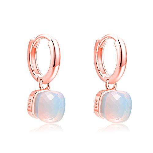 01375a207df0 MetJakt Classic Blue Topaz Drop Earrings Solid 925 Sterling Silver Pendant  Earring for Women s Occasions Fine