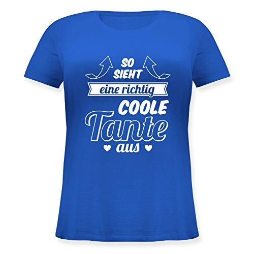 Shirtracer Schwester & Tante - So Sieht eine Richtig Coole Tante Aus - Lockeres Damen-Shirt in Großen Größen mit Rundhalsausschnitt Blau