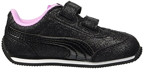 PUMA Baby Whirlwind Glitz Sneaker Black-Orchid  9 M US Toddler
