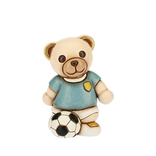 Thun teddy calciatore (bomboniera), ceramica, h 8,4 cm