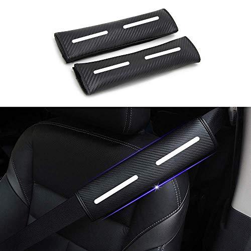 2 x Auto Gurtschutz Sicherheitsgurt Schulterpolster Schulterkissen Weiß Reflektierende Sicherheit Warnung Autositze Gurtpolster Passt für Navara