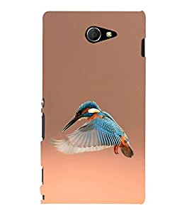 Kingfisher Hard Polycarbonate Designer Back Case Cover for Sony Xperia M2 Dual :: Sony Xperia M2 Dual D2302