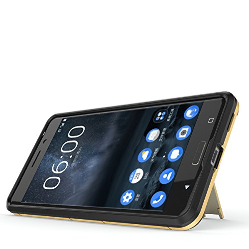 Nokia 6 Coque,EVERGREENBUYING Ultra Slim léger 2 en 1 TA-1000 Cases Housse Etui Premium Kickstand Bumper Hard Shell Back Coque Case Pour NOKIA 6 (5.5 inch) Saphir Rouge