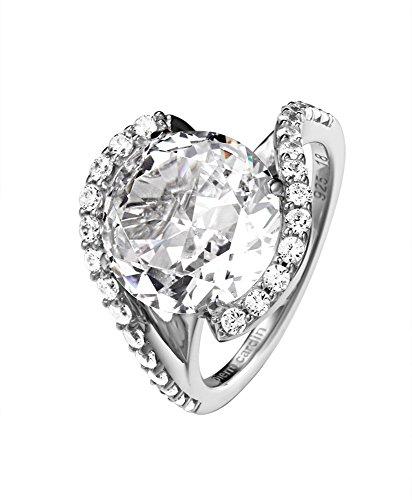 Pierre Cardin Damen-Ring Saint Ambroise 925 Silber Zirkonia weiß Brillantschliff Gr. 53 (16.9) - PCRG90427A170