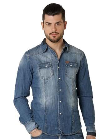 Deeluxe 74 - Chemise Homme En Jeans - couleur: Bleu - taille: M