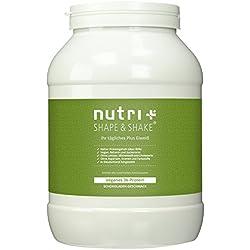 Veganes Proteinpulver Schokolade 1kg - Nutri-Plus Shape & Shake Vegan 3k-Eiweiß ohne Aspartam, Laktose & Milcheiweiß - Dose inkl. Messlöffel