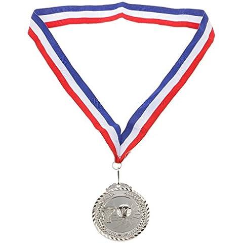 Juego de Deportes Ganadores Medalla de Premios de Baloncesto Partido Traje - Plata