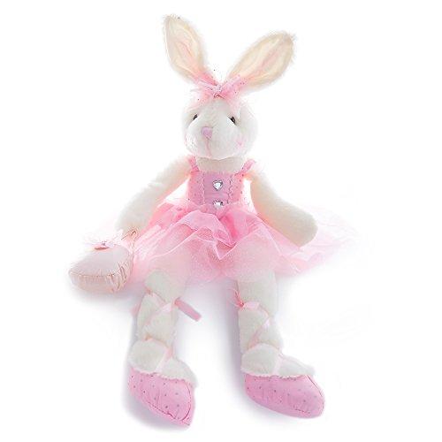 Wewill Brand gut original adorable P üppigen Ballerina-Häschen Stoffkaninchen Puppe, 23-Inch/ 60CM (Rosa)