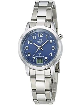 Master Time Funk Basic Series Damenuhr MTLA-10491-32M, Edelstahl Armbanduhr Silber
