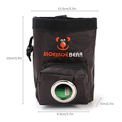 Feed Tasche, Oxford Doggie Portable Hüfttasche Wurf Caddy für Outdoor-Hundetraining liefert braun