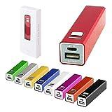Lote de 20 Power Bank Aluminio 2200 mAh con Cable Incluido en Caja de Presentación - Micro USB - Power Bank, Powerbanks Baratos. Regalos de Empresa, Artículos Publicitarios y Promocionales