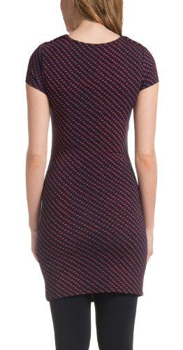 Noppies Damen Umstandsmode Shirt Top 40122 Tunika, Wasserfallkragen kariert Mehrfarbig (Coral C072)