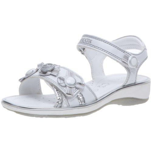 Geox - Sandali da ragazza', (Weiß/Silber), 37 EU