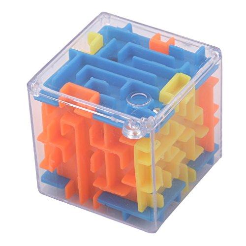 LnLyin Zauberwürfel, 3D-Puzzle, 3D-Würfel, Labyrinth Spielzeug, Handspiel-Box, lustiges Gehirn-Spiel, Challenge Fidget Spielzeug
