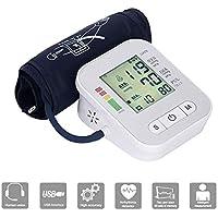 Huaaag Monitor de presión Arterial Brazo Superior Medidor de presión Arterial Esfigmomanómetro automático Pulsómetro, Pulso