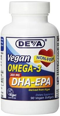 Vegan Omega-3 DHA-EPA 300mg 90 gels