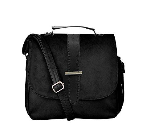 BFC-Buy For Change Latest Stylish Multi Pocket Cross Body Black Sling Side...
