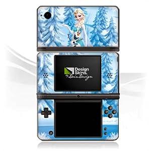 DeinDesign Skin kompatibel mit Nintendo DSi XL Folie Sticker Frozen ELSA Offizielles Lizenzprodukt Disney
