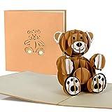 Geburtstagskarte Kinder mit süssem Teddy, Glückwunschkarte zum Geburtstag, Geburt Baby, Mädchen,...