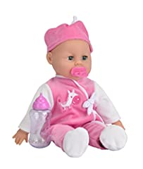 Idea Regalo - Simba 105140488 - Bambola Baby Laura Parlante, 38 cm
