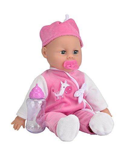 Simba 105140488 - Bambola Baby Laura Parlante, 38 cm