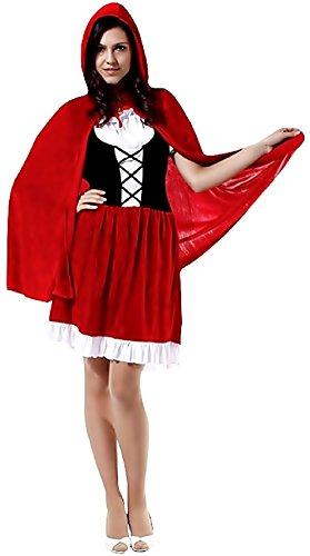 Inception Pro Infinite Taglia Unica - Costume - Travestimento - Carnevale - Halloween - Cappuccetto Rosso - Velluto - Colore Rosso - Adulti - Donna - Ragazza