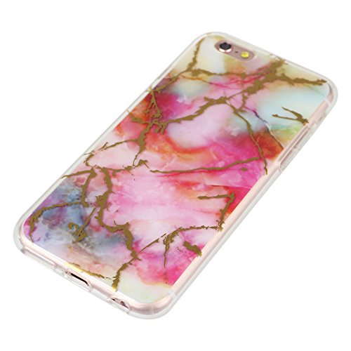 iPhone 6/6S Backcase, iPhone 6 Handyhülle Marmor, iPhone 6S Handyhülle Marmor, Marble Marmor Design, Moon mood® Hülle für Apple iPhone 6/6S 4.7 Zoll Weich Silikon TPU Hülle Handytasche Etui Bumper Fle Marmor 10