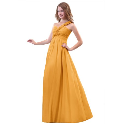 Sunvary A una Line-spalla in Chiffon Prom Gowns, sera, varie taglie Arancione