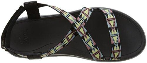 Teva 1009807 - Sandali Donna Nero (Mosaic Black Multi Mbmt)