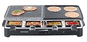 Severin RG 2341 Raclette Party Grill Multifunzione 1400W, colore: Nero