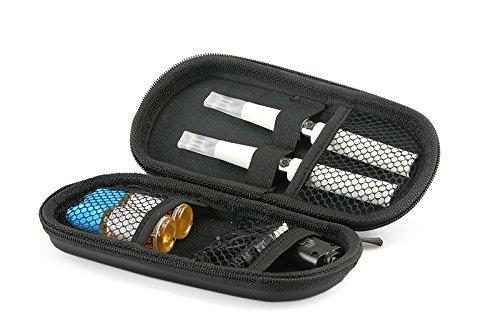 Aufbewahrungs-Etui Ego für E-Zigaretten und E-Shishas ideal als Tasche Hülle Bag Case zum Schutz oder für Liquids und Zubehör Schwarz (Deutsche Zigaretten-etui)