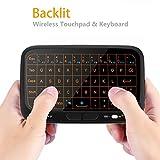 Mini Teclado inalámbrico Mouse Touchpad Pantalla Completa, Mini Teclado Remoto Mouse Combo, Recargable portátil Remoto Android TV Box, IPTV, HTPC, PC, Ordenador portátil más