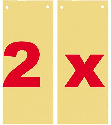 Trennstreifen 10,5x24cm gelb 180g Manilakarton 200St