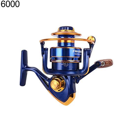 xMxDESiZ 13BB 5.2: 1 Aluminium Metall Sea Boat Fishing Rocker Spinnrolle Spinner Werkzeug 6000