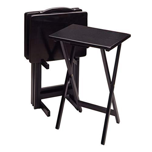 Winsome TV-Tischset aus Holz, 5-teilig 25.98 inches schwarz (Tv Am Ziel)